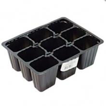 Кассета рассадная 9 ячеек 5,5х4х6,5 см , полистирол - Семена Тут