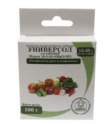 Универсол Овощи (16-5-25+микроэлементы) 100 гр - Семена Тут